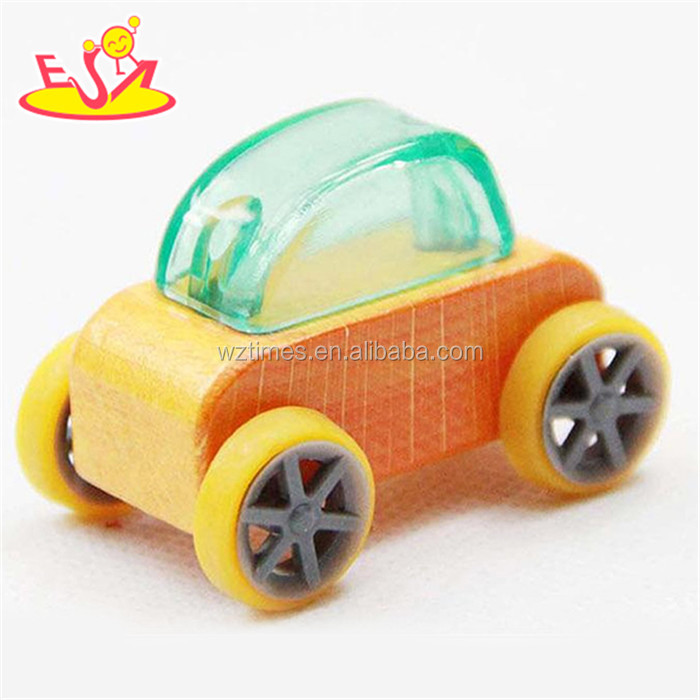 wholesale lovely children wooden small car toy hot promotional kids wooden small car toy W04A180C