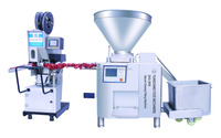 big size diced meat filling machine and clipping machine for meat product like sausage