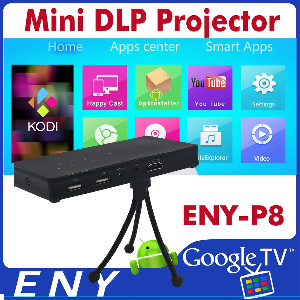 ENY P8 5V Smart Musical Battery Powered Mini Projector with WIFI BT 4.0 for Home Theater DLP Projector