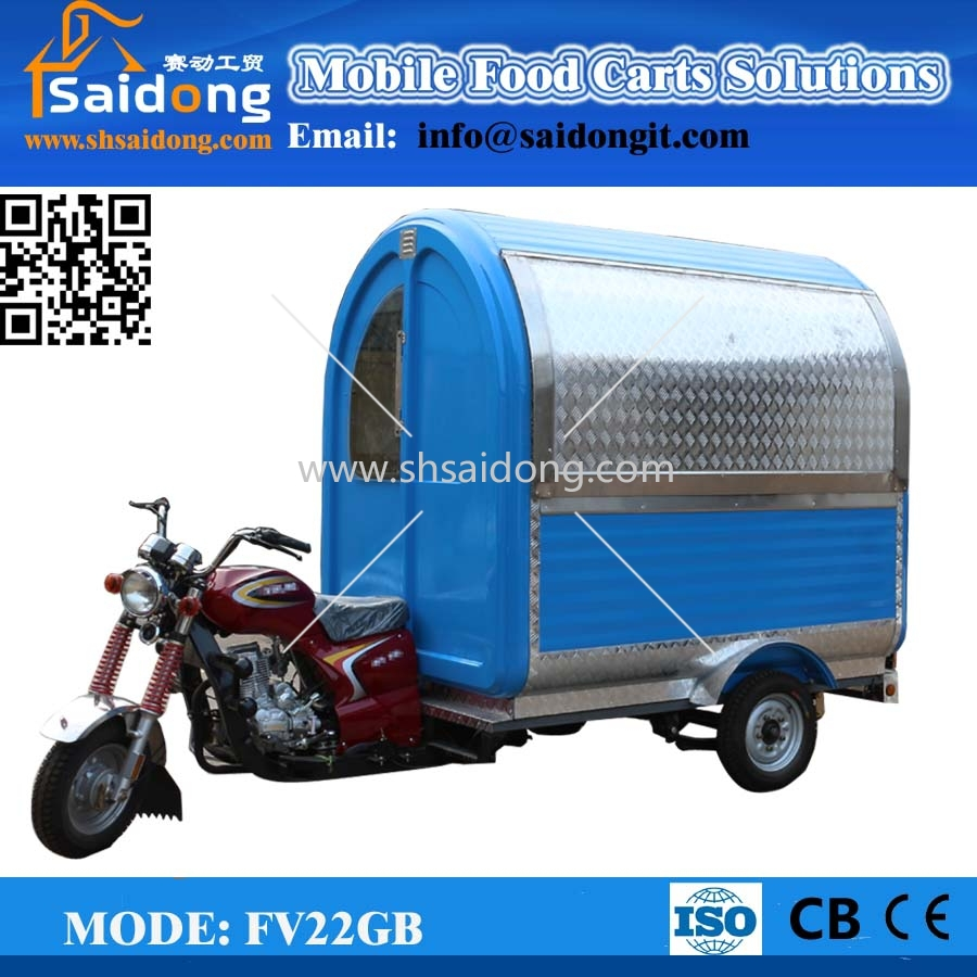 Comparative Price New Food Carts/Mobile Food Van/Food Vending Carts for Sale