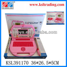 kid study pink computer toys