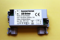 White plastic housing constant current 24-60w led driver with CE CB GS