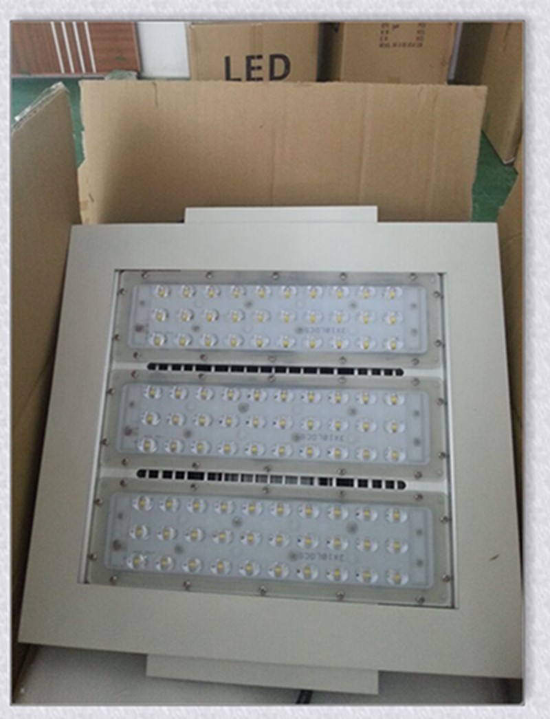 Explosion-proof 80-200W led canopy light for gas station with Meanwell driver