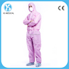 Pink industrial factory worker uniform disposable coverall workear