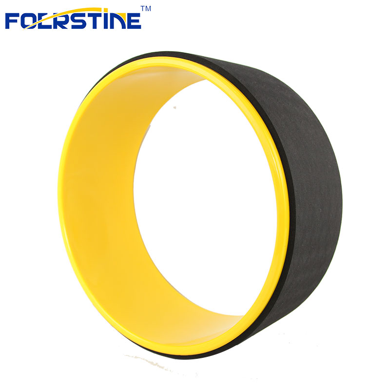 China Factory OEM Private Label  Fitness Bodybuilding Balance training Natural Mini Yoga Wheel massage yoga wheel