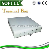 SOFTEL indoor termination box,ftth optical fiber terminal box/termination box fiber,12/24/48/96 cores fiber terminal box