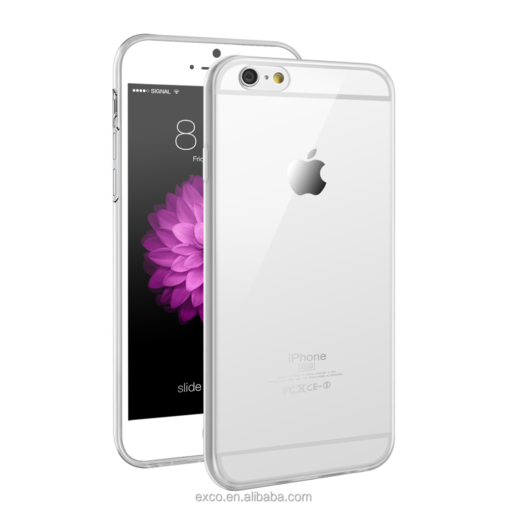 EXCO full protective Clear ultrathin water resistance silicon phone cover for iPhone 6 plus