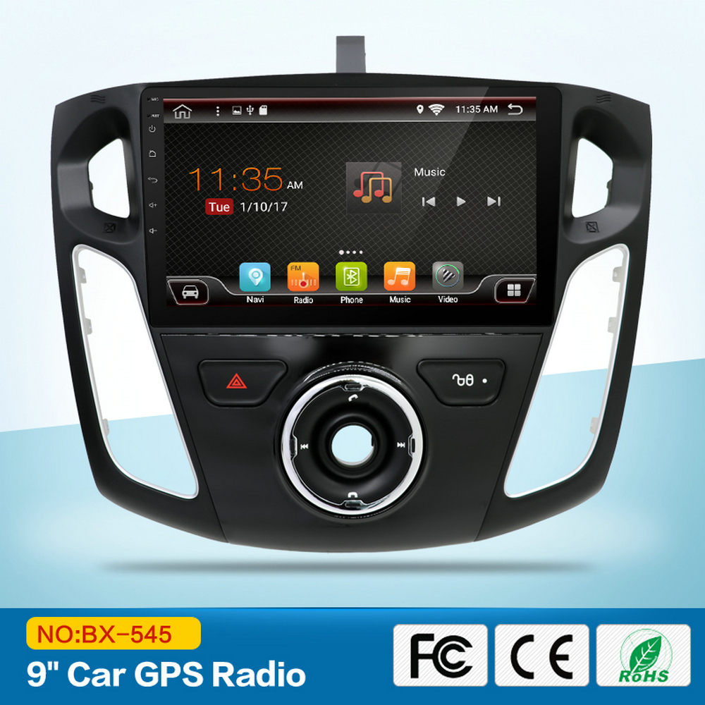 9 inch HD Touch Screen GPS Navi Radio Android Car Multimedia for Forde Focuse 2012 2015 with Bluetooth 3G Wifi USB Color LED RDS
