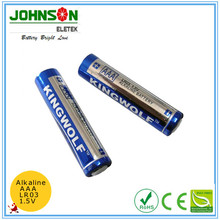 AAA Size and Zn/MnO2 Battery Type 1.5v aaa am4 lr03 alkaline battery