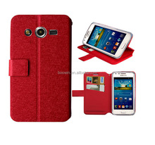 for red samsung g386f Galaxy Core LTE case red slik slim wallet stand leather case wiko case high quality factory price