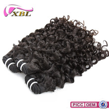 New Hair Style Peruvian Jerry Curl 18 Inch Curly Human Hair Weave