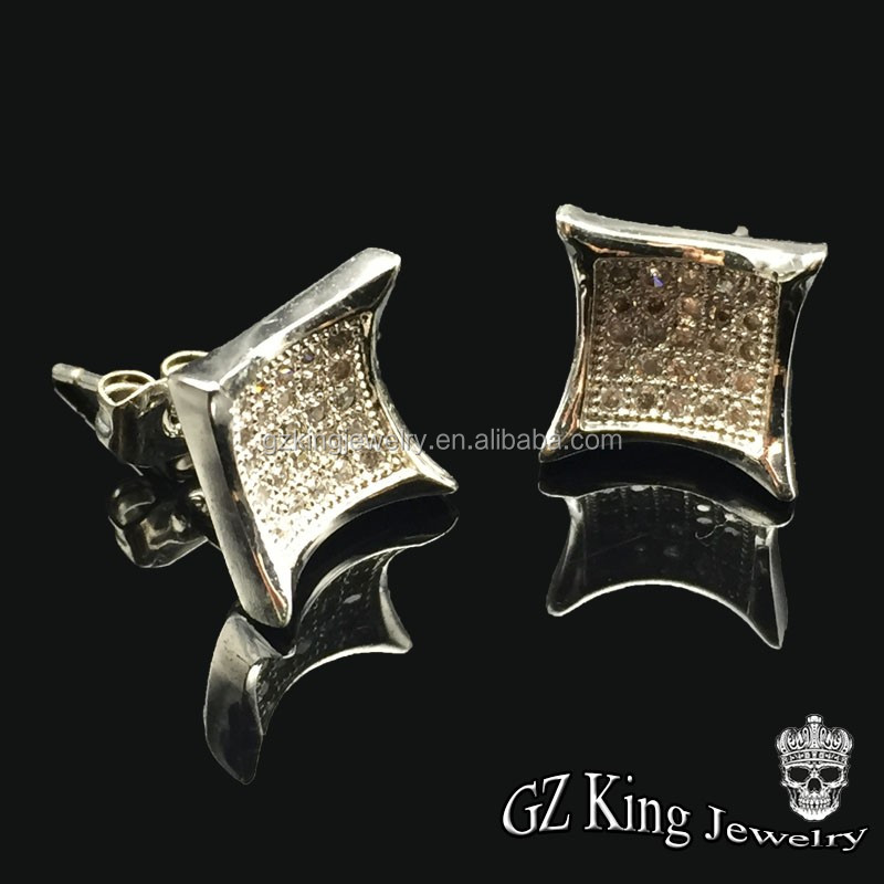 import jewelry from china 925 sterling silver zircon earring stud for men