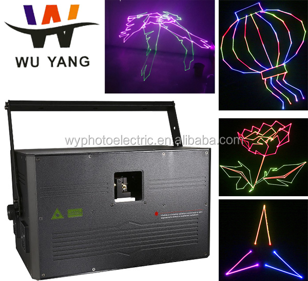 Guangzhou Stage Lighting 8w RGB animation Laser Show disco laser light