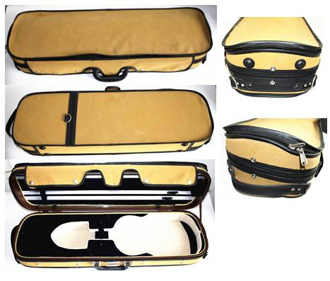 Leather cover plywood violin hard case