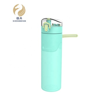 Dependable Quality Leak Proof Travel Sports 500ml Silicone Foldable Drinking Water Bottle