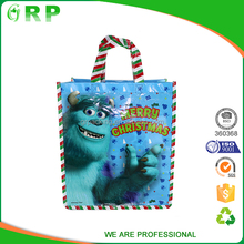 CMYK Full color print easy carry pp non woven gift shopping bag