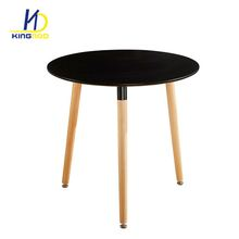 Hot Sale Black MDF Top With Solid Wooden Beech Legs Dining Table In Dining Room <strong>Furniture</strong>