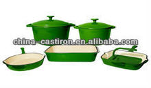 green enamel cast iron cookware