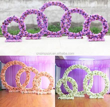 Wedding cheap 3 colors decorative flower arch for 3 size decoration wedding