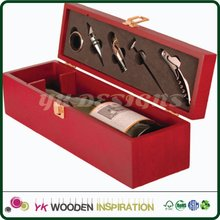 Hinged lid wooden wine box Customer's Logo CMYK+ Pantone Colour Customized Accept