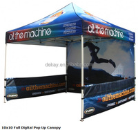 10x10 Custom Printed Trade Show Folding Pop up Canopy with walls