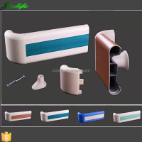 Safety and crashworthy plastic cover pvc handrail for elderly