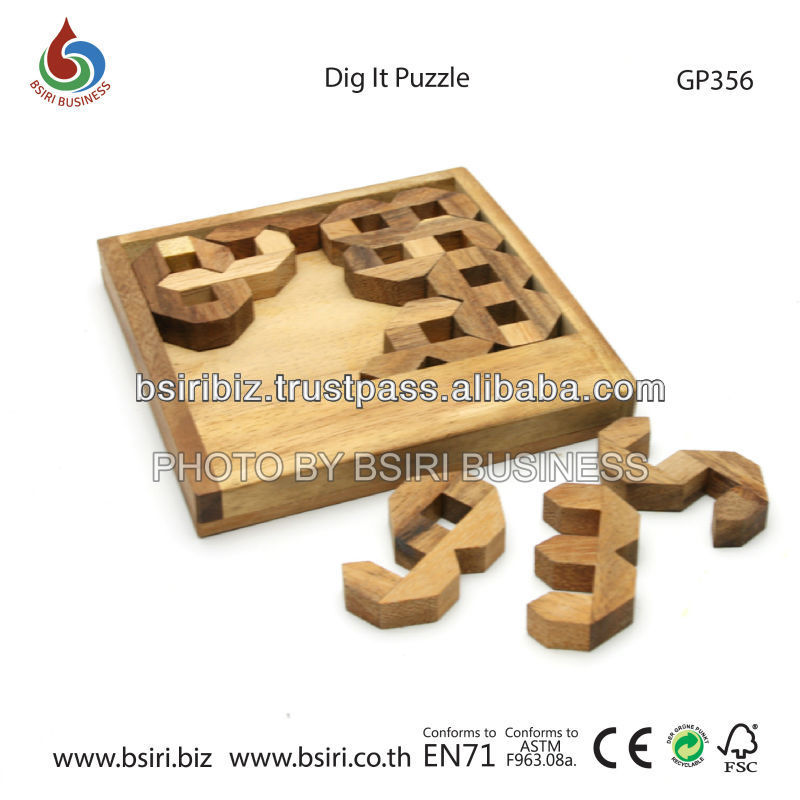 adult wooden puzzles Dig it Puzzle