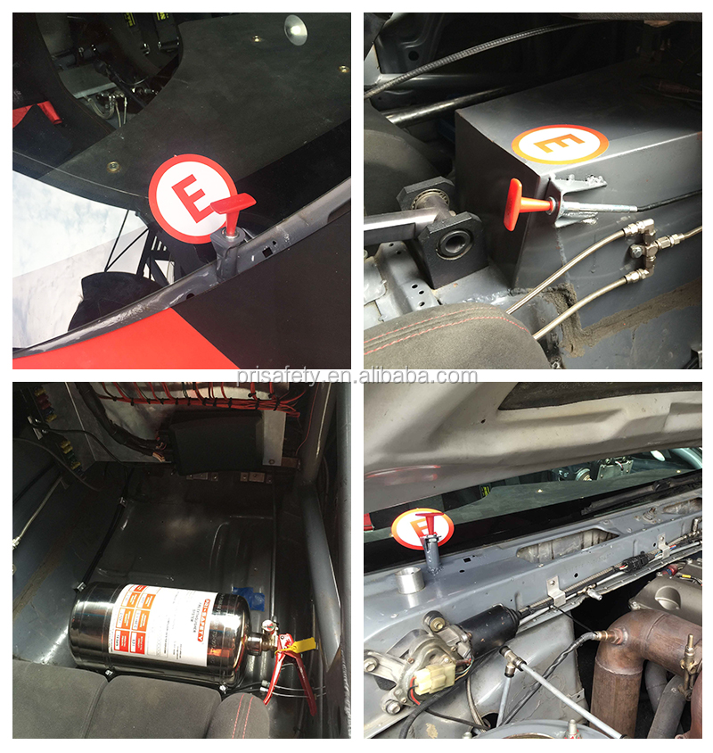 Mechanically Racing Car Fire Extinguisher Systems