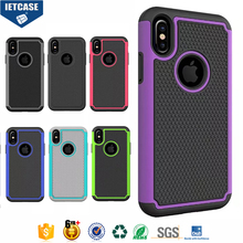 Wholesale OEM Dual Color PC+TPU Hybrid Combo Shockproof Protective Shell Mobile Phone Cover Case for iPhone 8