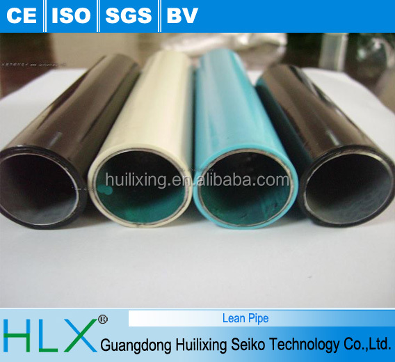 Plastic PE Coated Steel Pipe/Lean Tube