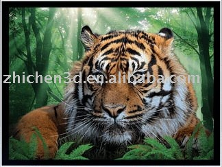 3d animated picture of tiger