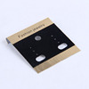 High Quality Plastic Velvet Jewelry Accessory Earring Display Card
