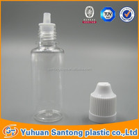 2015 BV FDA Wholesale PET 15ML Plastic Dropper Bottles E-Liquid Bottle With Childproof Cap , short fat Tip,Plastic bottles,