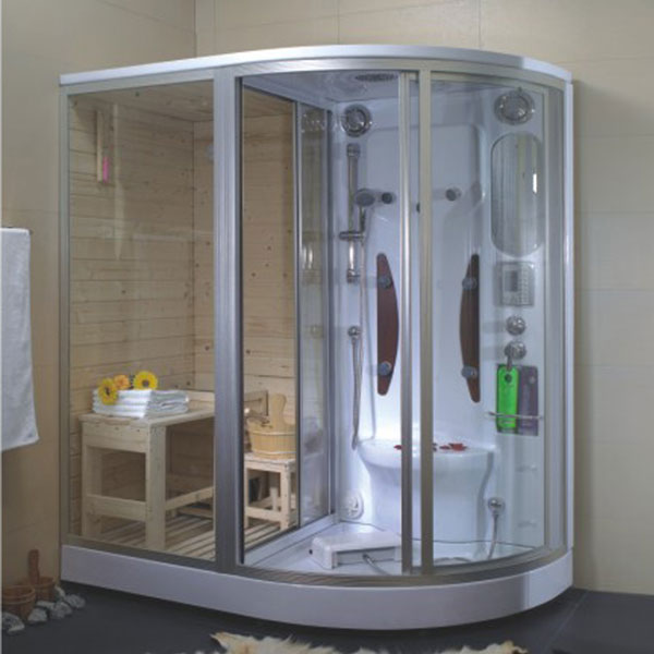 luxury indoor steam shower room