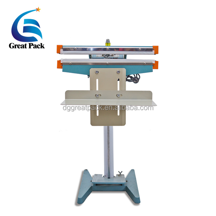 Impulse plastic film foot operated sealing machine