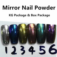 2016 Newest uv gel magic mirror powder nail art chrome pigment mirror powder free sample