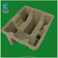 popular style mold pulp packaging tray, thermoforming molded pulp tray