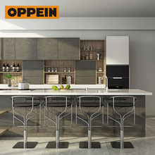 OPPEIN Particleboard Carcase Material custom modern laminate kitchen cabinets
