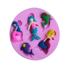 Sea-maid princess shape fondant mold/Silicone cake decoration fondant mold