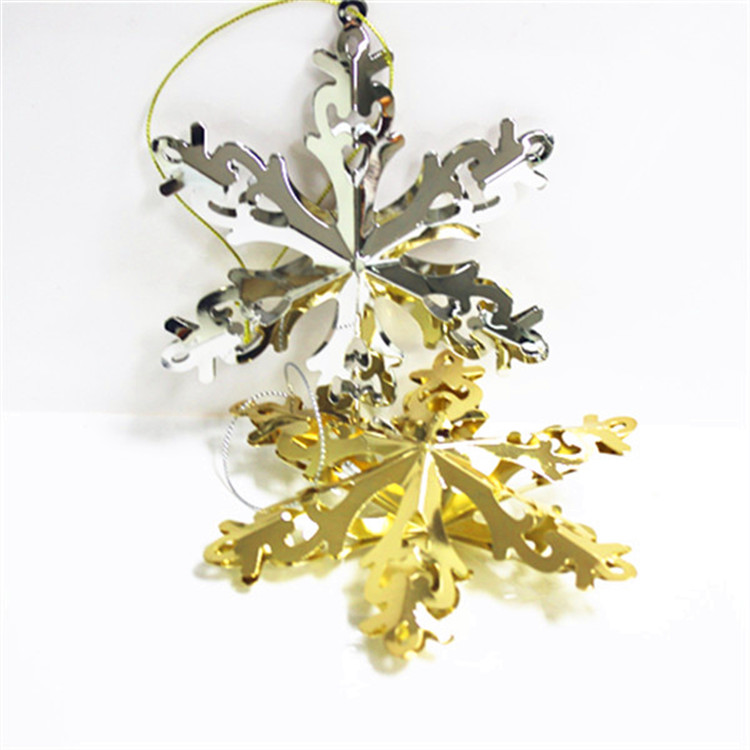 Hot sale prety christmas metal snowflake ornament