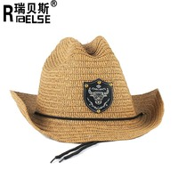 fashion cheap wholesale men hats paper cowboy straw hats for promotion