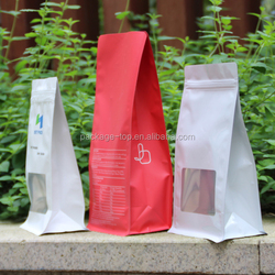 plastic bags manufacturer quad seal coffee pouch bag