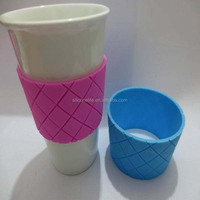 High quality heat resistant and anti-slip resuable custom silicone drinking cup sleeves