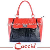 PU leather fashionable mature women handbags