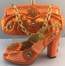AB6194#2 African shoes and bags to match women /dress shoes and matching bags2016