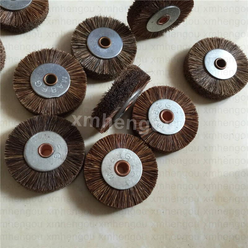 Copper komori manroland brush, brush wheel for printing machine, stainless steel 45*6 size with high quality