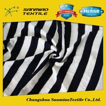SANMIAO Brand best quality cheapest black and white stripe poplin fabric SBWHCP-165