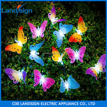 Solar garden lights decoration light 20 LED butterfly solar string light