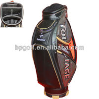 Genuine leather wholesale cart golf bag