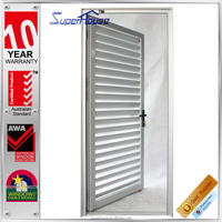Australia standard aluminum framed single interior french swinging shutter doors